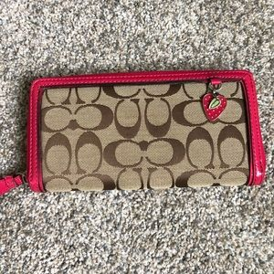 Coach Wallet with Strawberry Charm